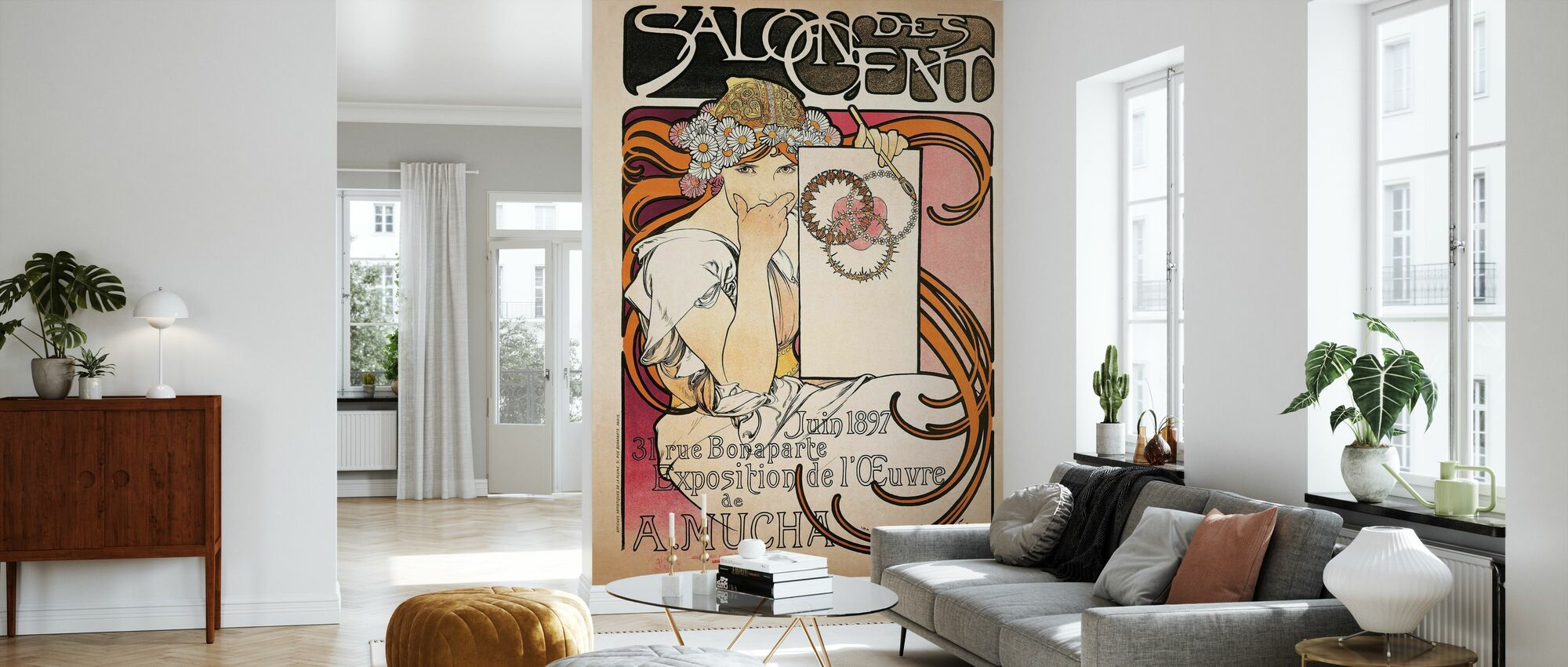 Alphonse Mucha -Salon des Cent 1897 - Wallpaper - Living Room