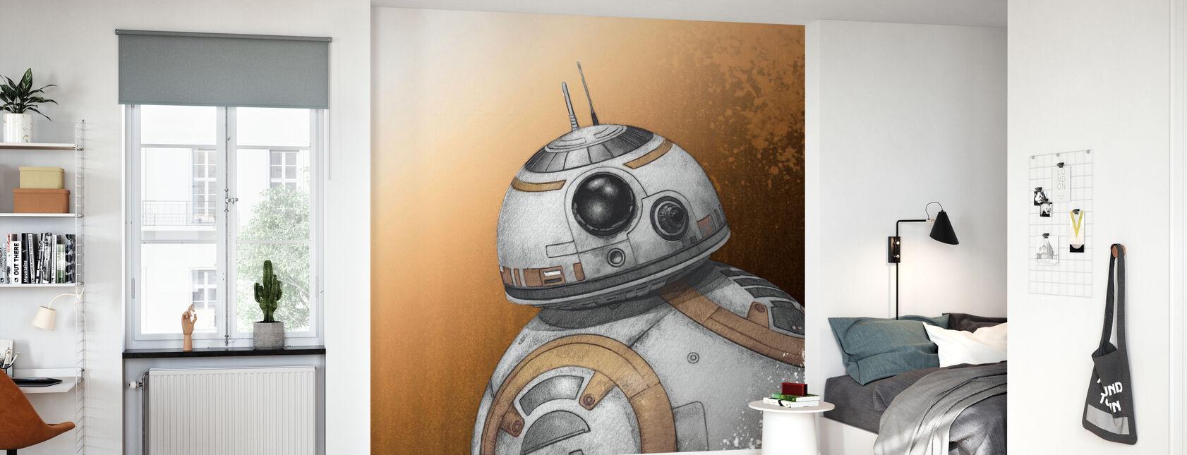 Star Wars - BB-8 - tegning - Tapet - Barnerom