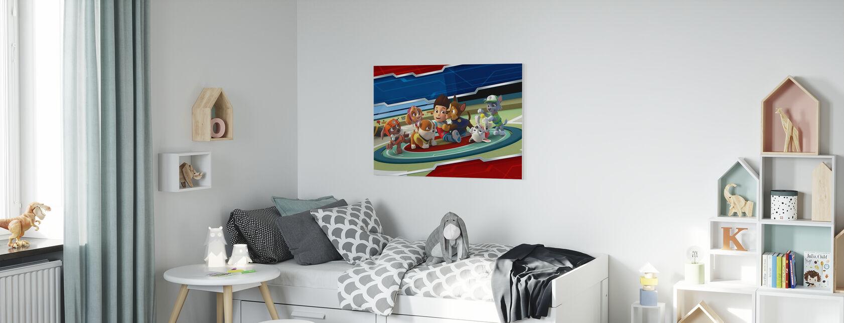 PAW Patrol - Toutes les pattes sur le pont - Impression sur toile - Chambre des enfants
