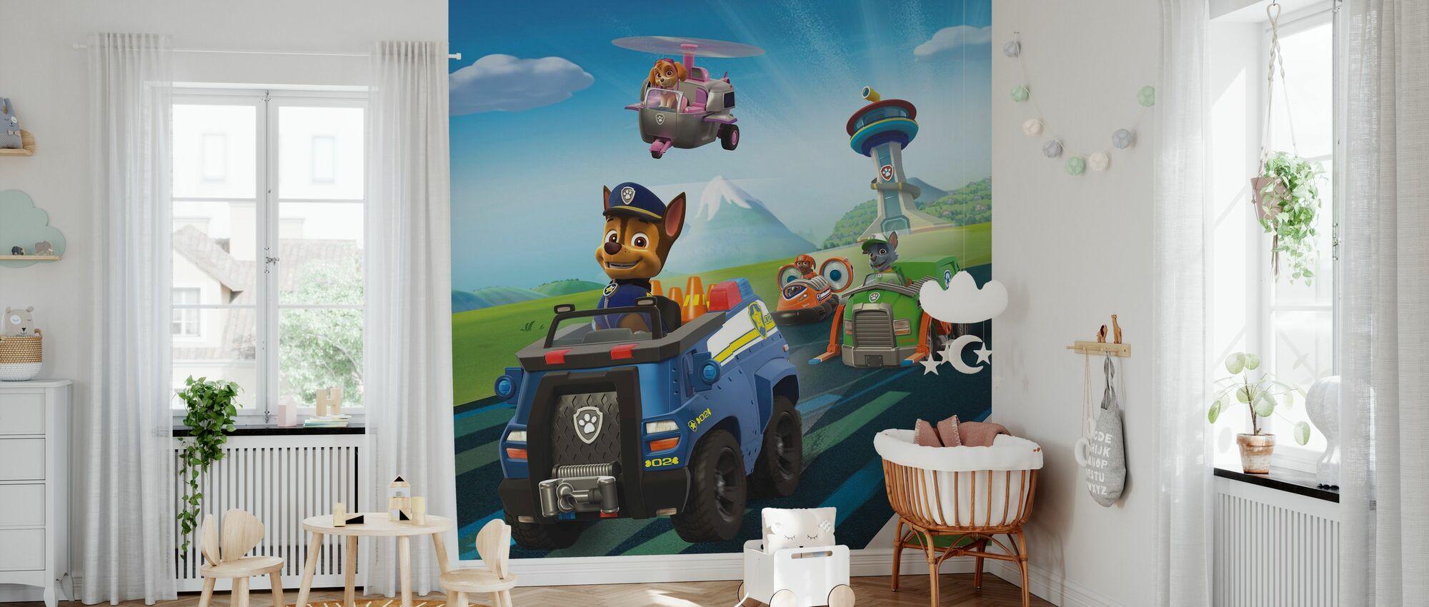 PAW Patrol - Lass uns rollen - Tapete - Babyzimmer