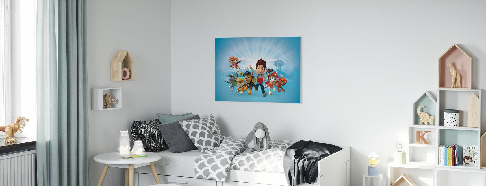 PAW Patrol - PAW Patrol is op een rol - Canvas print - Kinderkamer