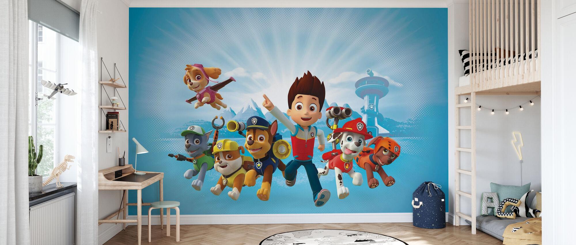 PAW Patrol - PAW Patrol ist auf einer Rolle - Tapete - Kinderzimmer