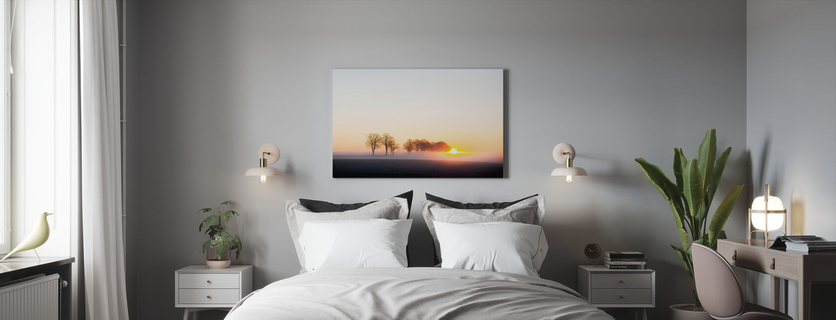 Vakna upp i Sverige - Canvastavla - Sovrum