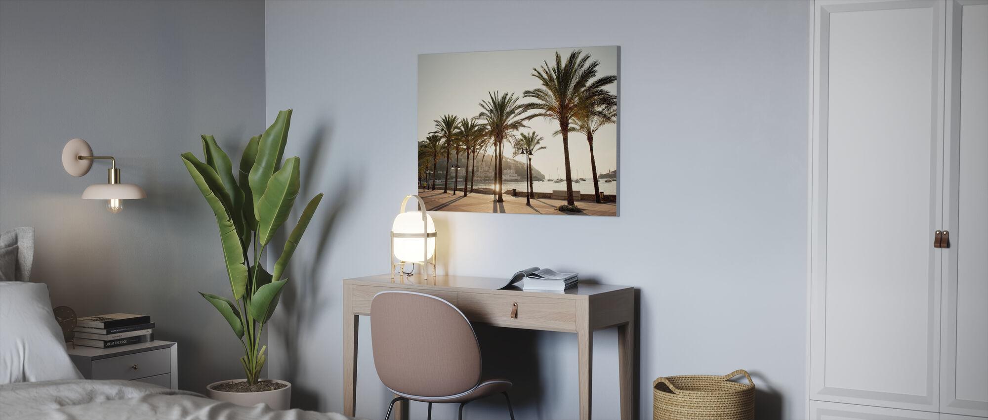 Mallorca strandpromenad - Canvastavla - Kontor