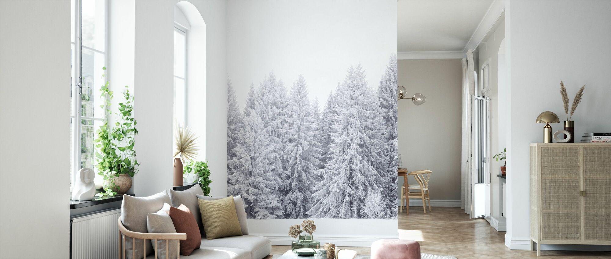 Värmland in White - Wallpaper - Living Room