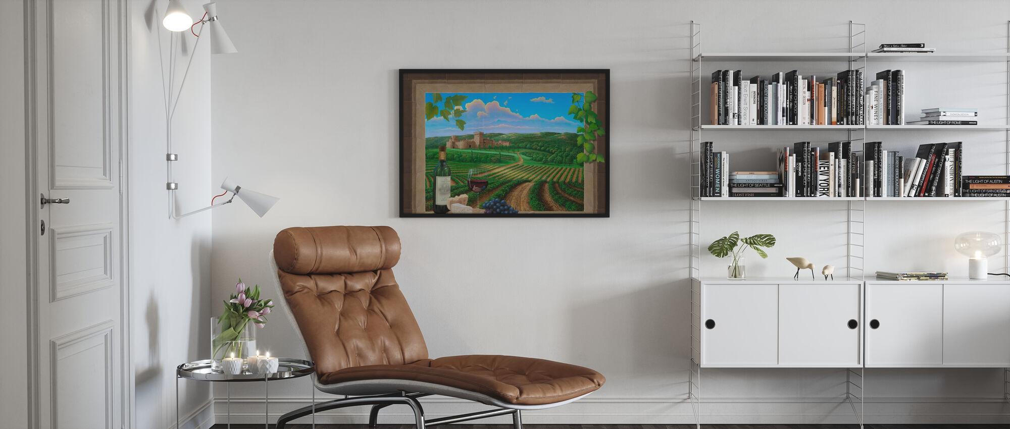 Elämä on hyvää - Kehystetty kuva - Olohuone