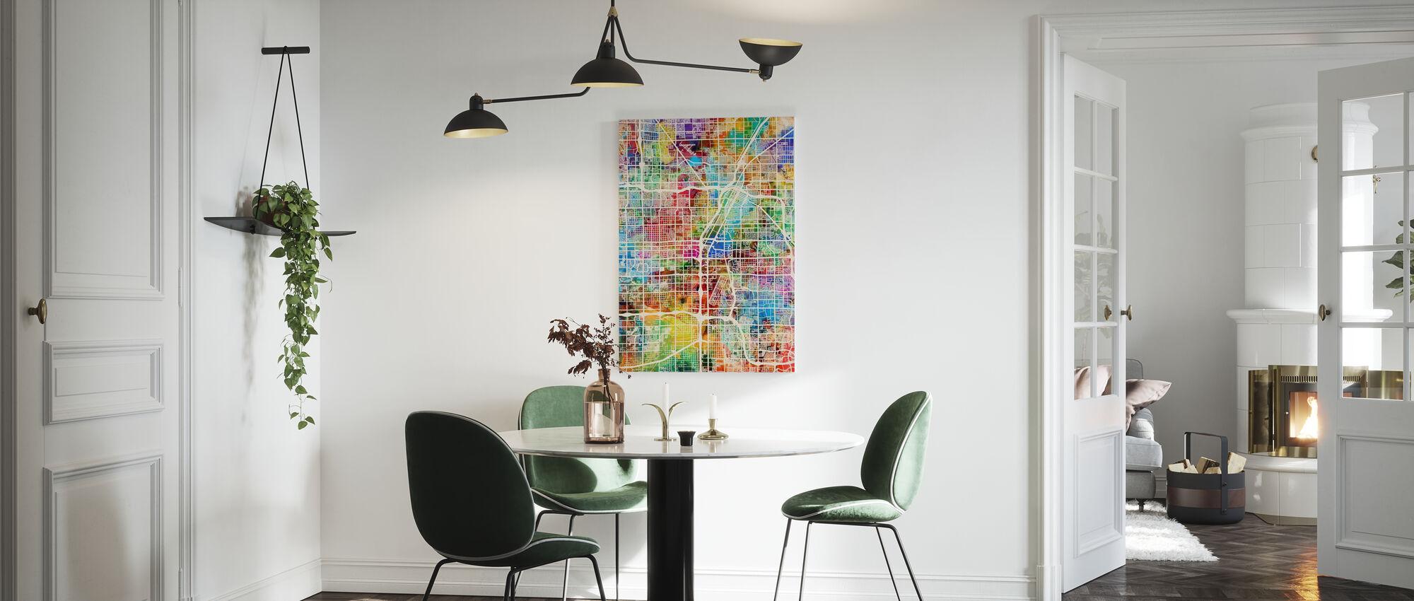 Las Vegas Street Map Multicolour - Canvas print - Kitchen