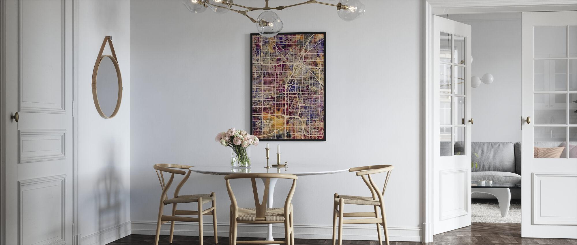 Las Vegas Street Map Purple - Poster - Kitchen