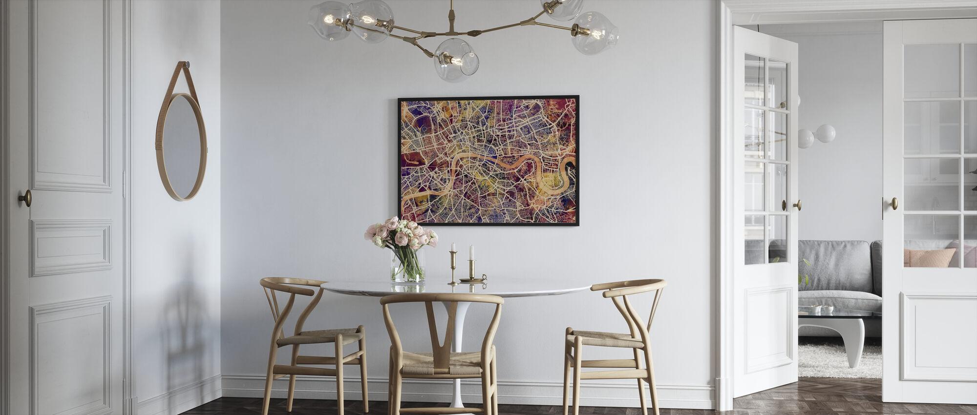London Street Map Purple - Poster - Kitchen