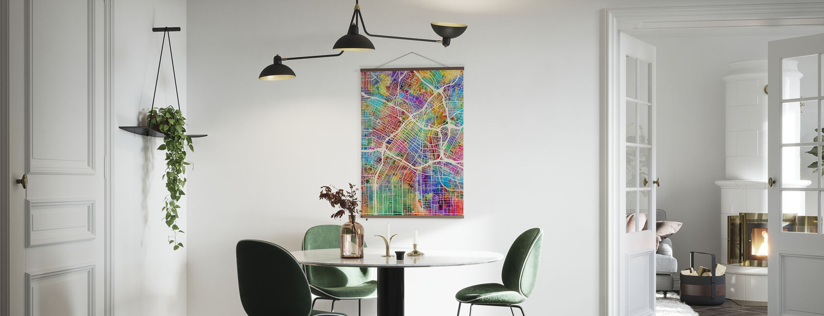 Los Angeles Street Map Multicolour - Poster - Kitchen