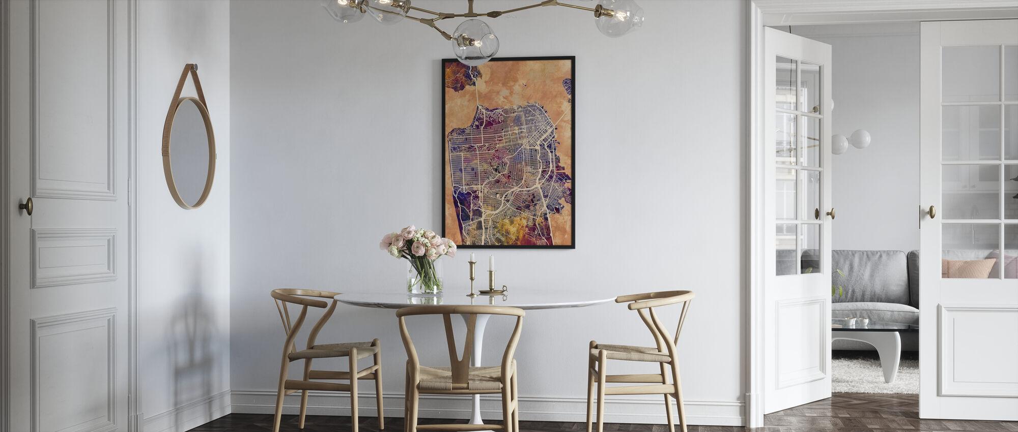 San Fransisco Street Map Purple - Poster - Kitchen