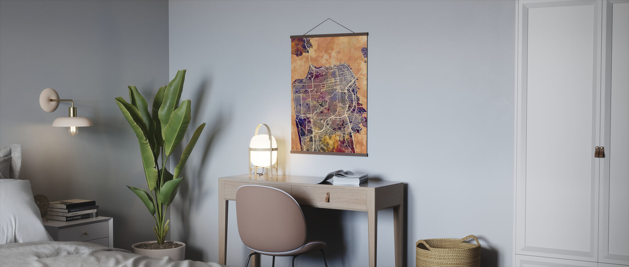 San Fransisco Street Map Purple - Poster - Office