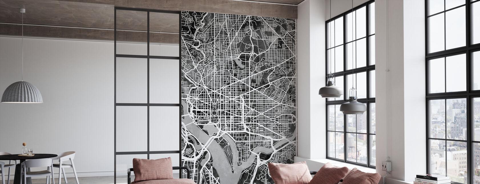 Washington DC Street Kaart - Behang - Kantoor