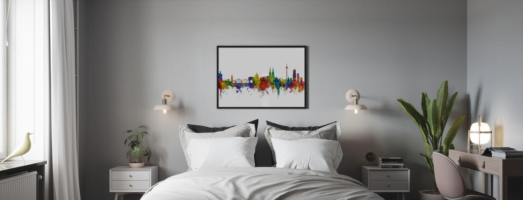 Skyline Köln - Poster - Schlafzimmer