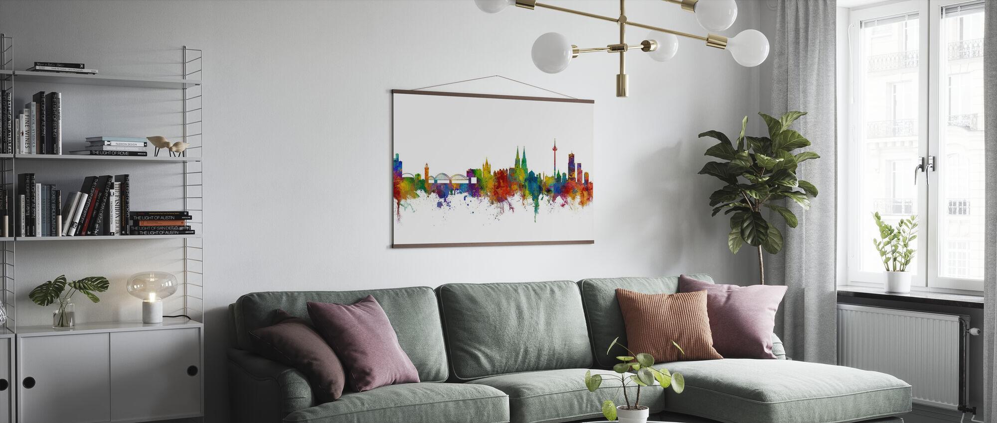 Skyline Köln - Poster - Wohnzimmer