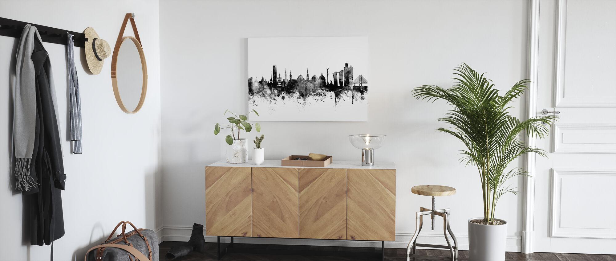 Copenhagen Skyline Zwart - Canvas print - Gang