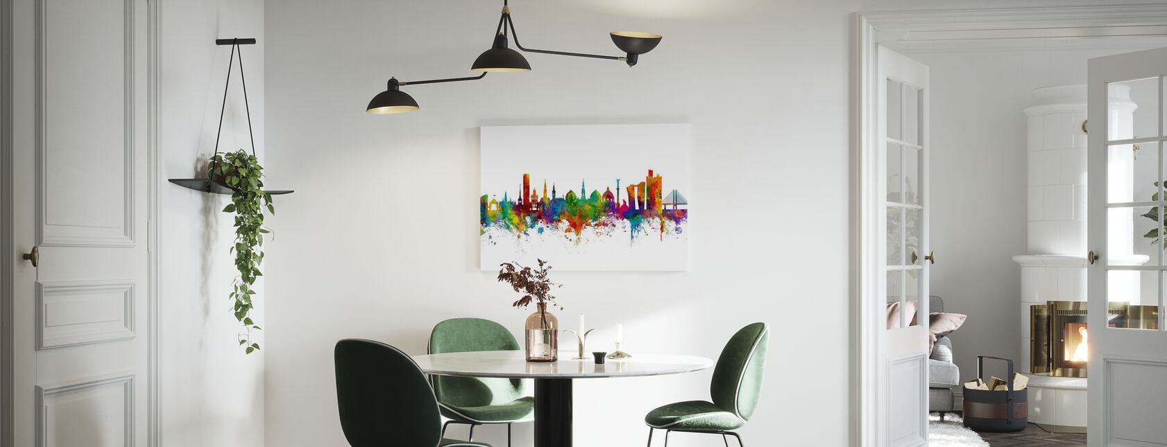 Copenhagen Skyline - Canvas print - Kitchen