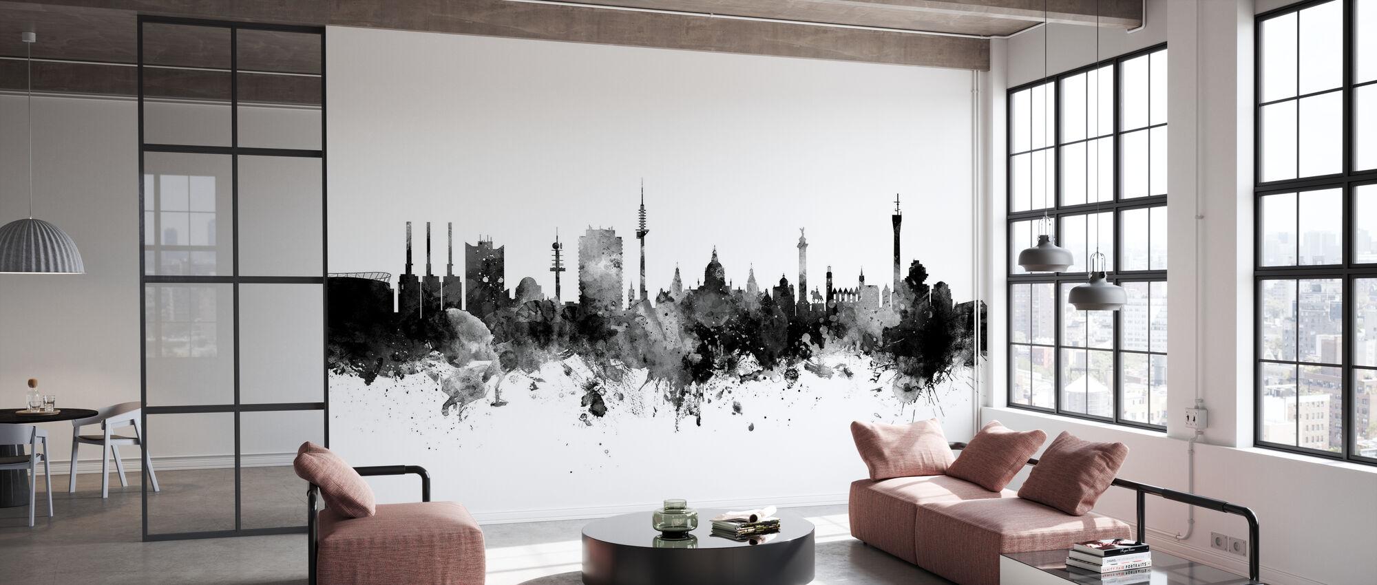 Hannover Skyline Black - Wallpaper - Office