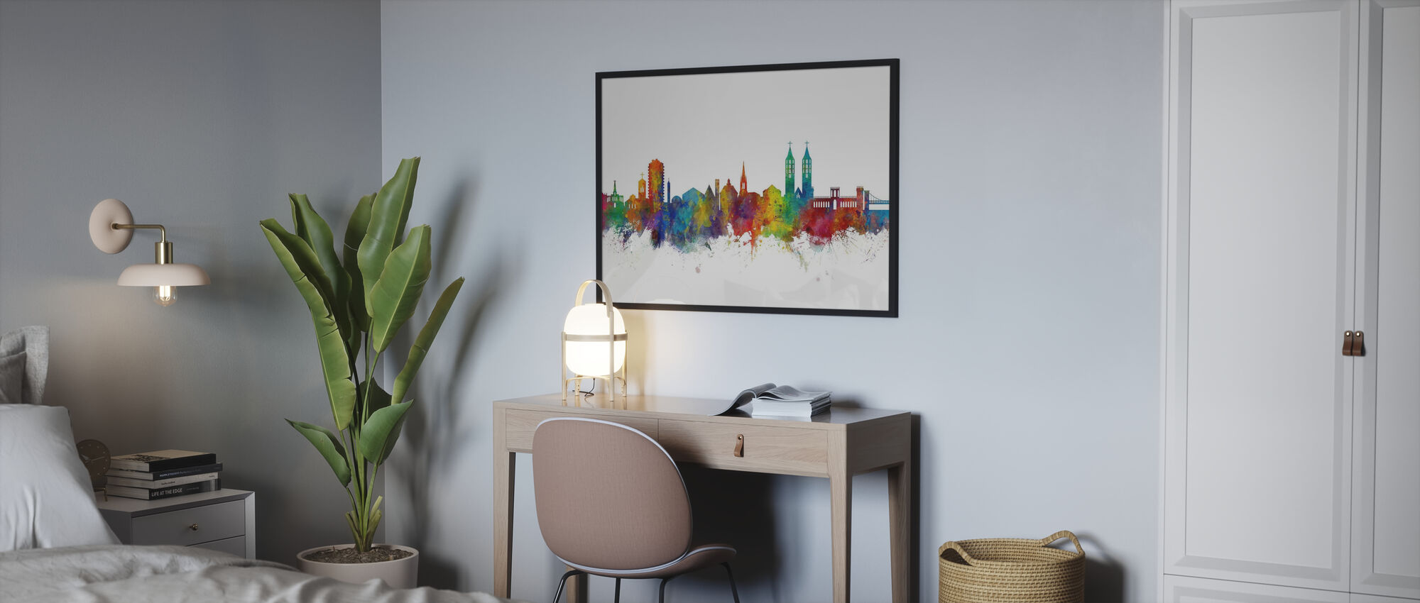 Kasseler Skyline - Poster - Schlafzimmer