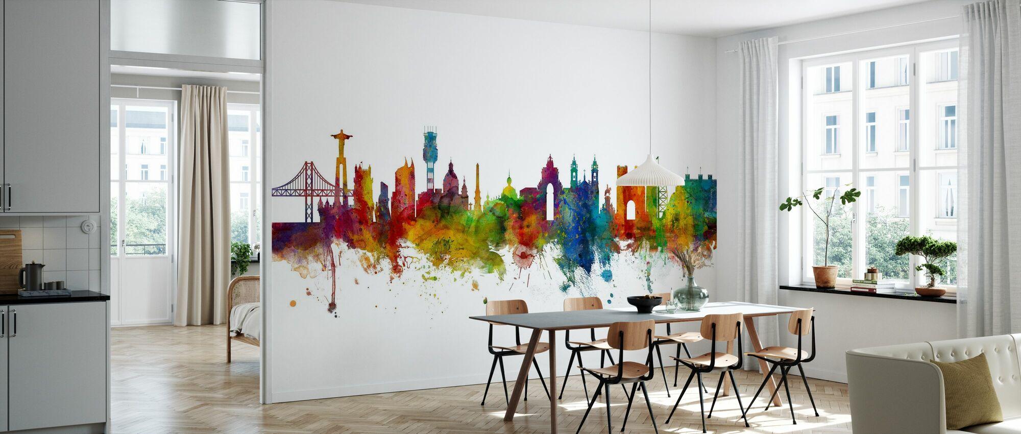 Skyline de Lisboa - Papel pintado - Cocina