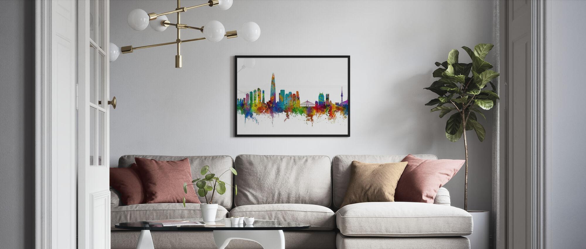 Skyline von Seoul - Poster - Wohnzimmer