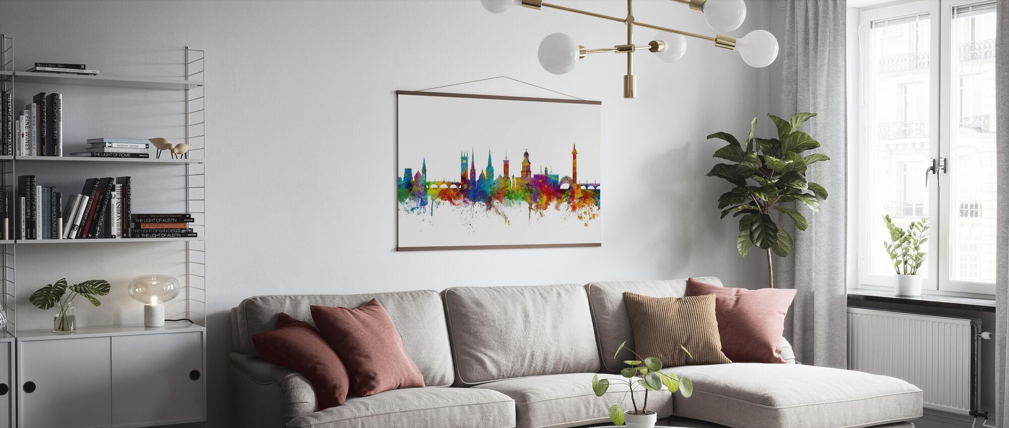 Skyline von Shrewsbury - Poster - Wohnzimmer