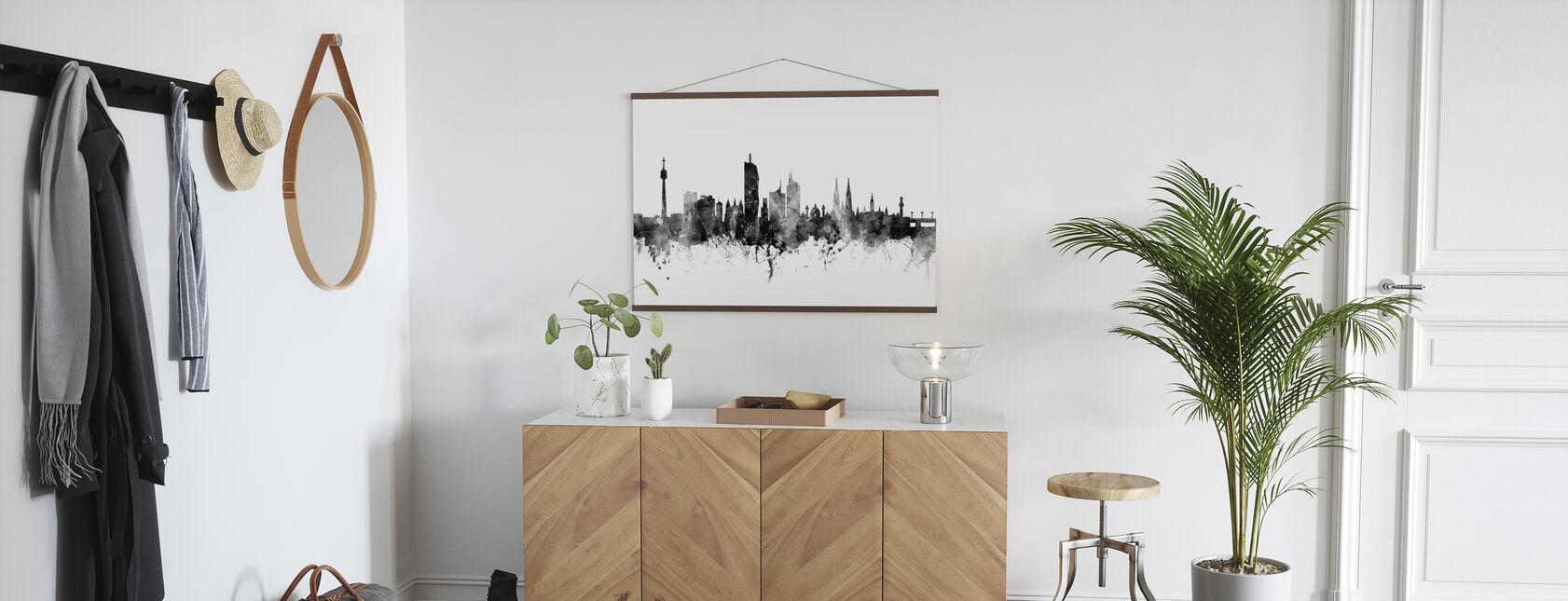 Vienna Skyline Schwarz - Poster - Flur
