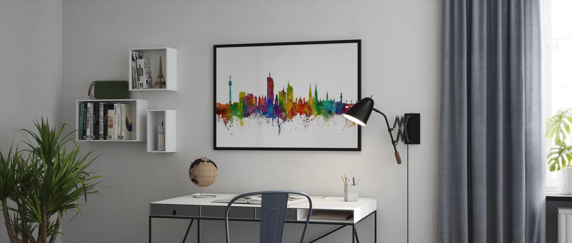 Skyline van Wenen - Poster - Kantoor