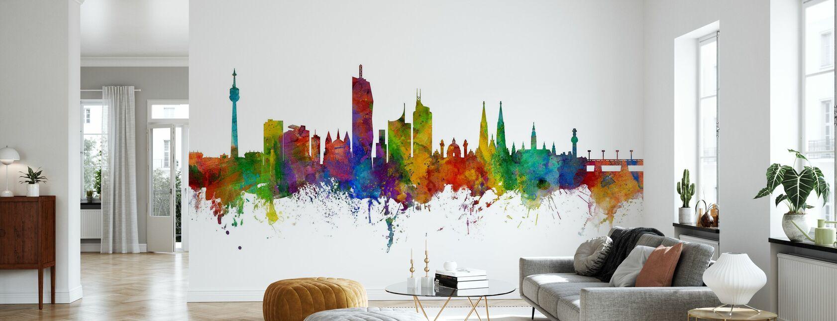 Skyline Wien - Tapete - Wohnzimmer