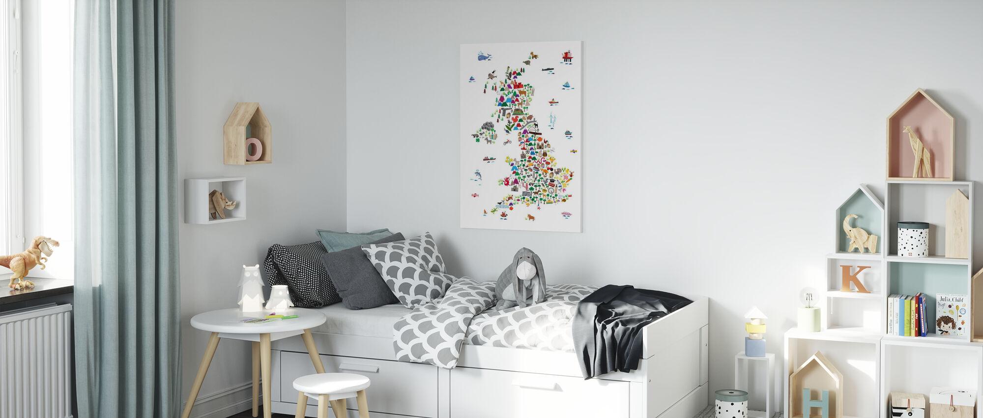 Animal Map UK - Canvas print - Kids Room