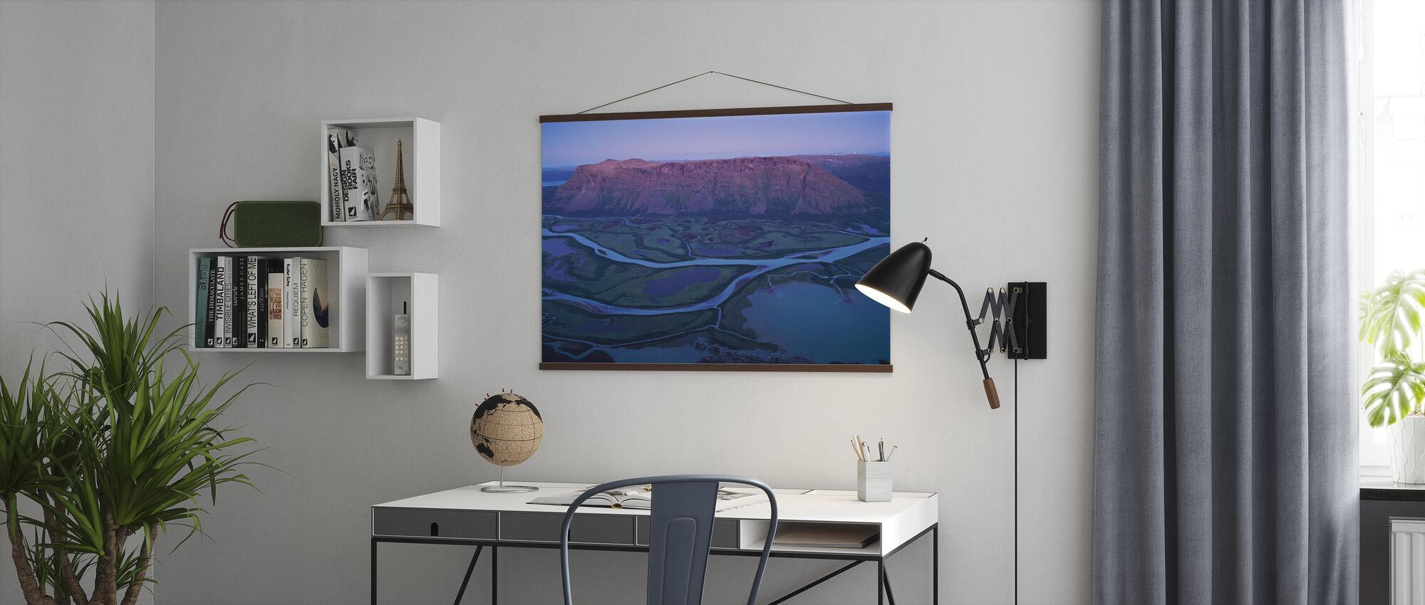 Blue Hour in Sarek - Poster - Office