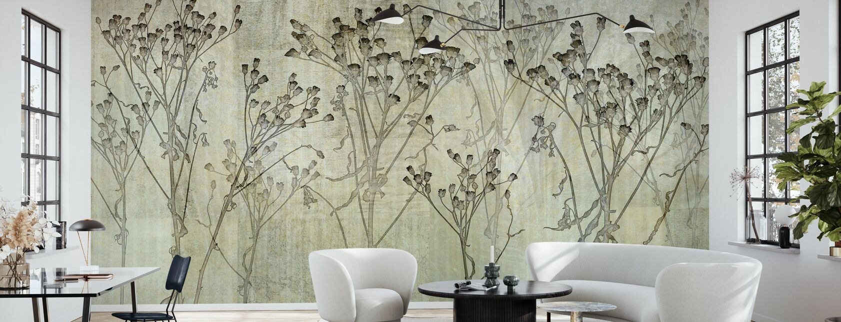 Concrete Weed - Wallpaper - Living Room