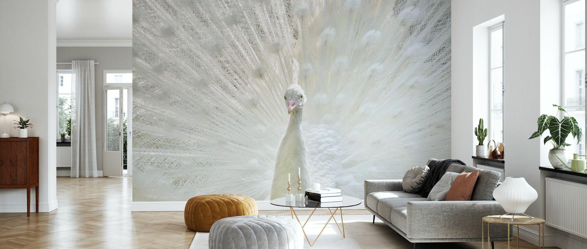 White Peacock - Wallpaper - Living Room