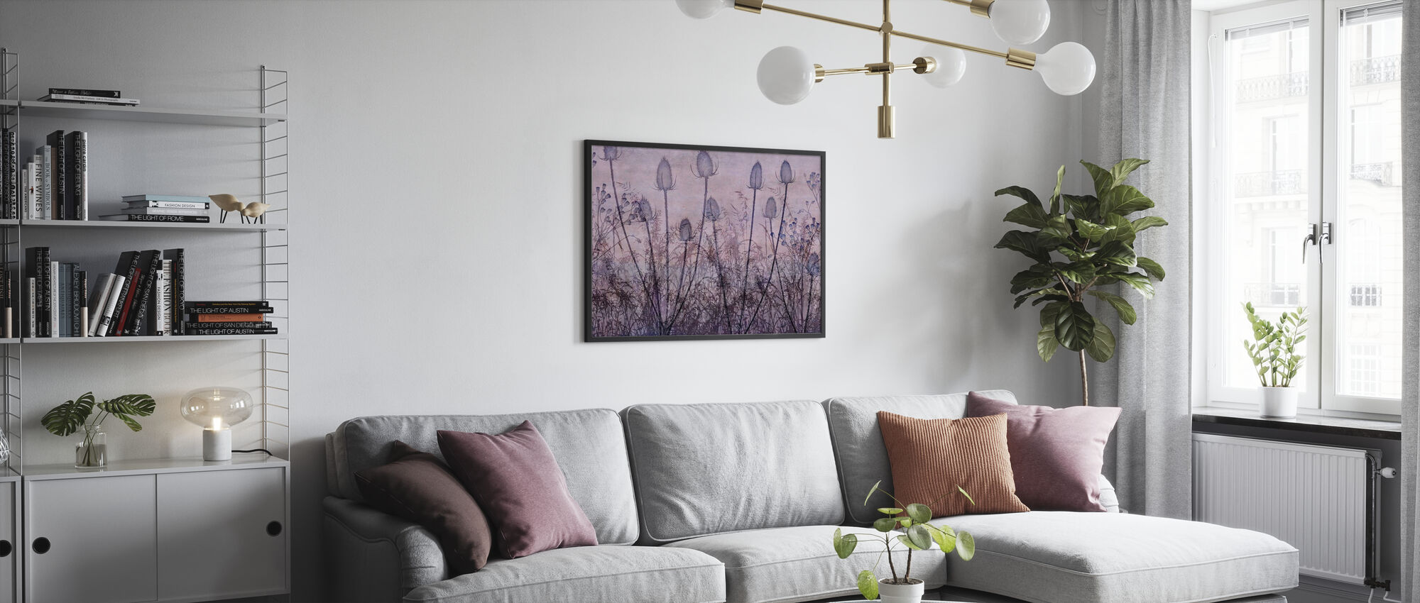 Wildflowers Lining the Trail Purple - Framed print - Living Room