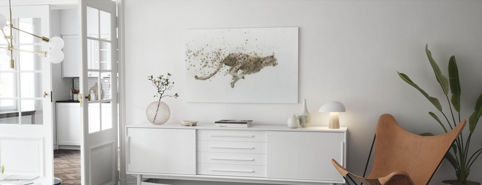 Cheetah - Canvastavla - Vardagsrum