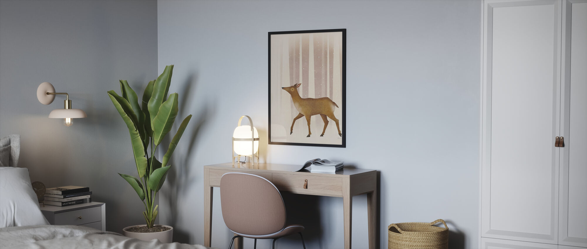 Snowy Doe - Poster - Bedroom