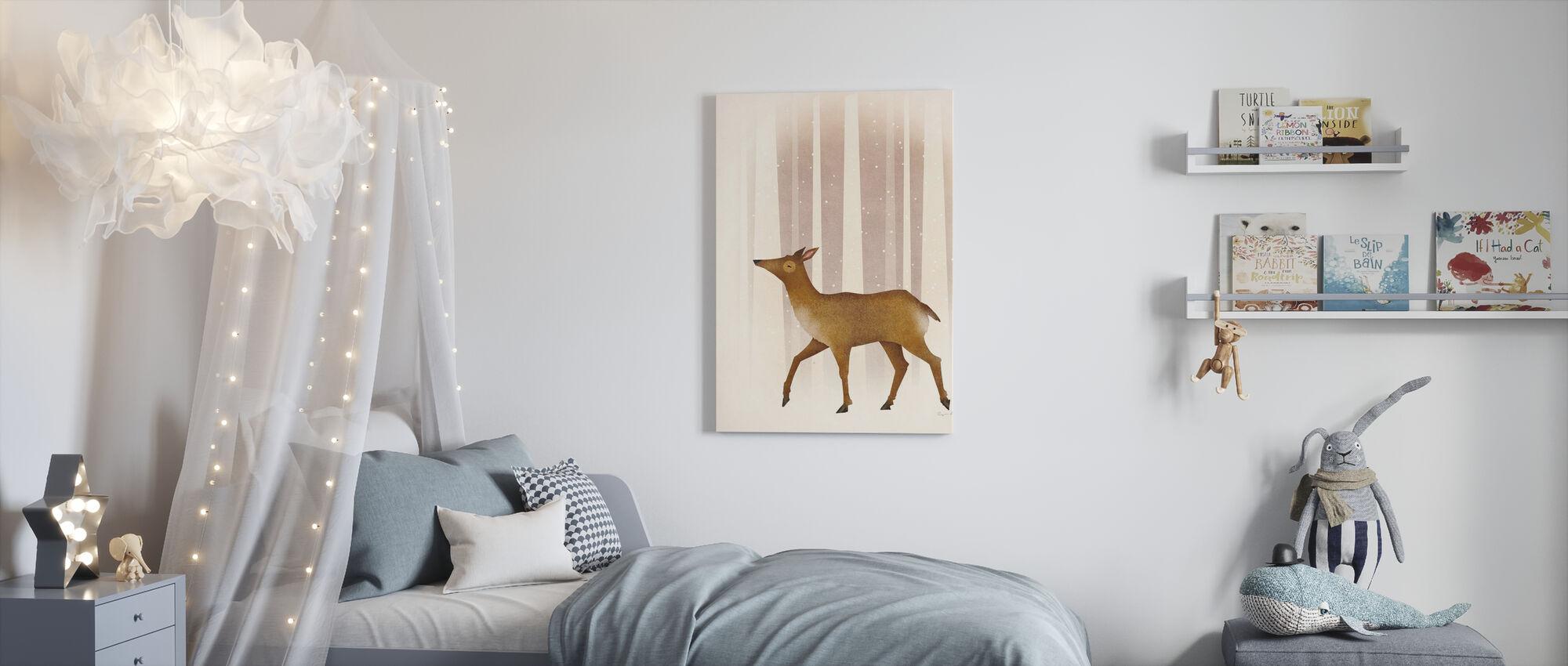 Snowy Doe - Canvas print - Kids Room