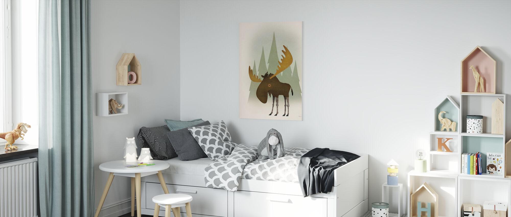 Forest Moose - Canvas print - Kids Room