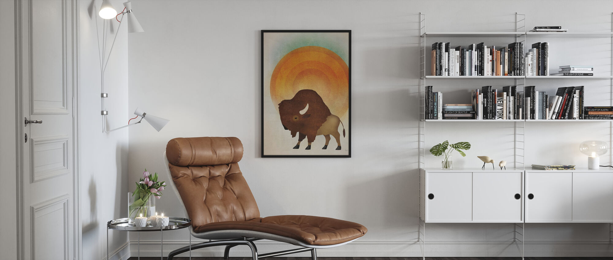 Blazing Sun Bison - Poster - Living Room