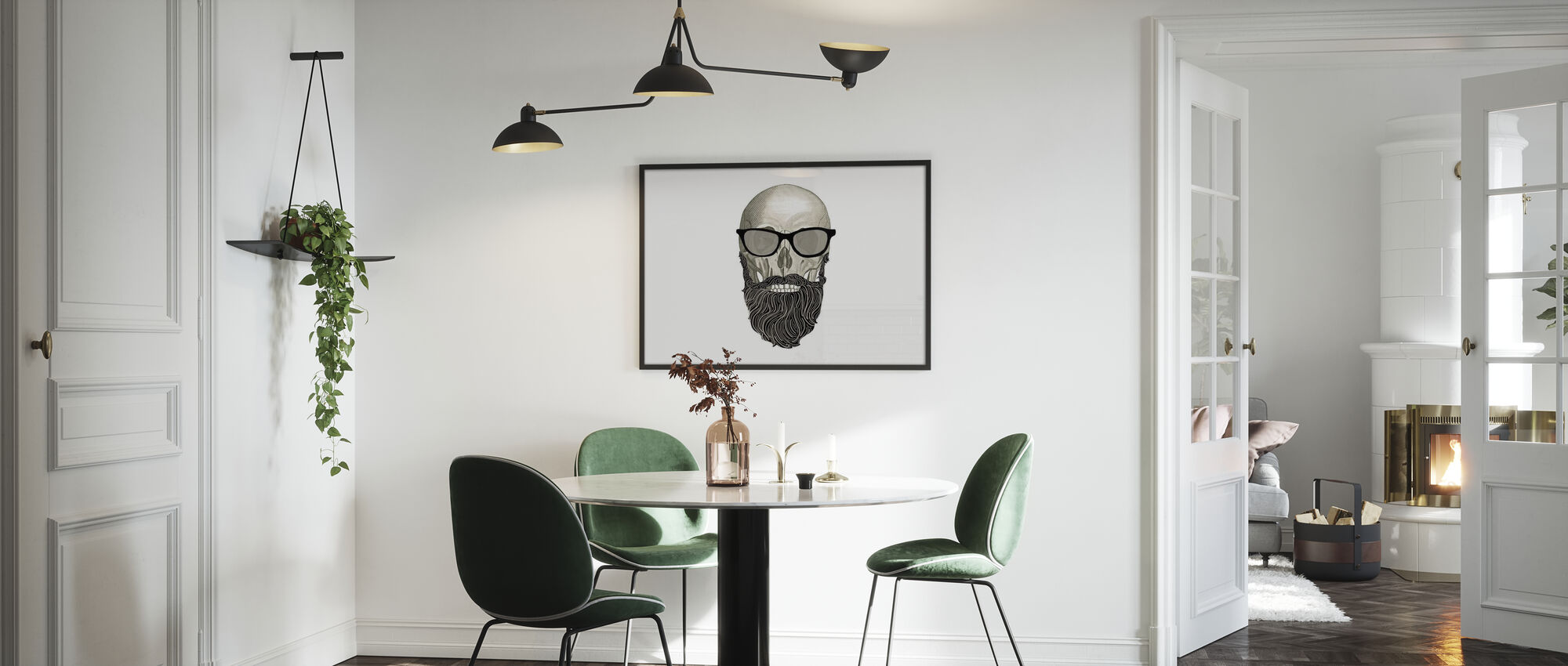Hipster Totenkopf I - Poster - Küchen