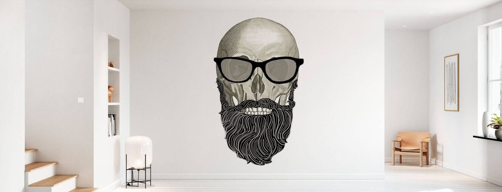 Hipsterin pääkallo I - Tapetti - Aula