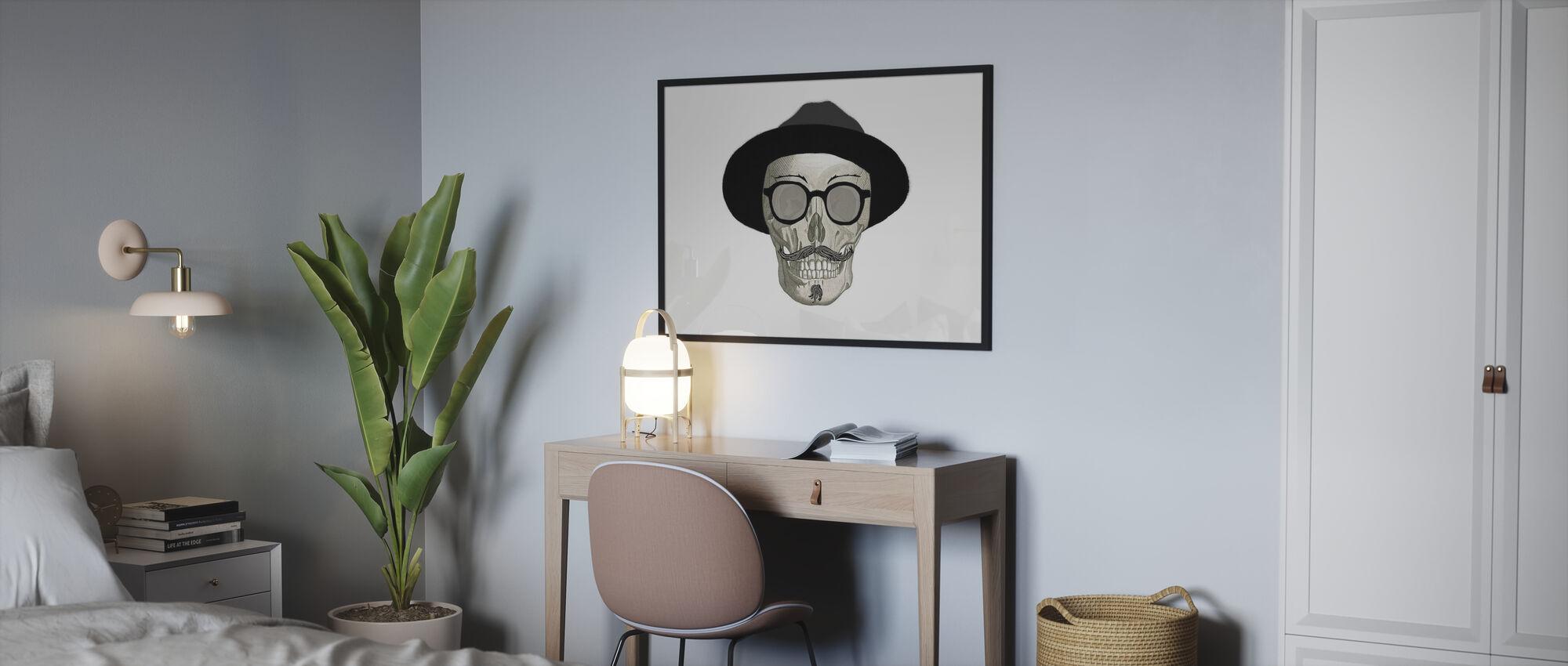 Hipster Skull III - Poster - Bedroom