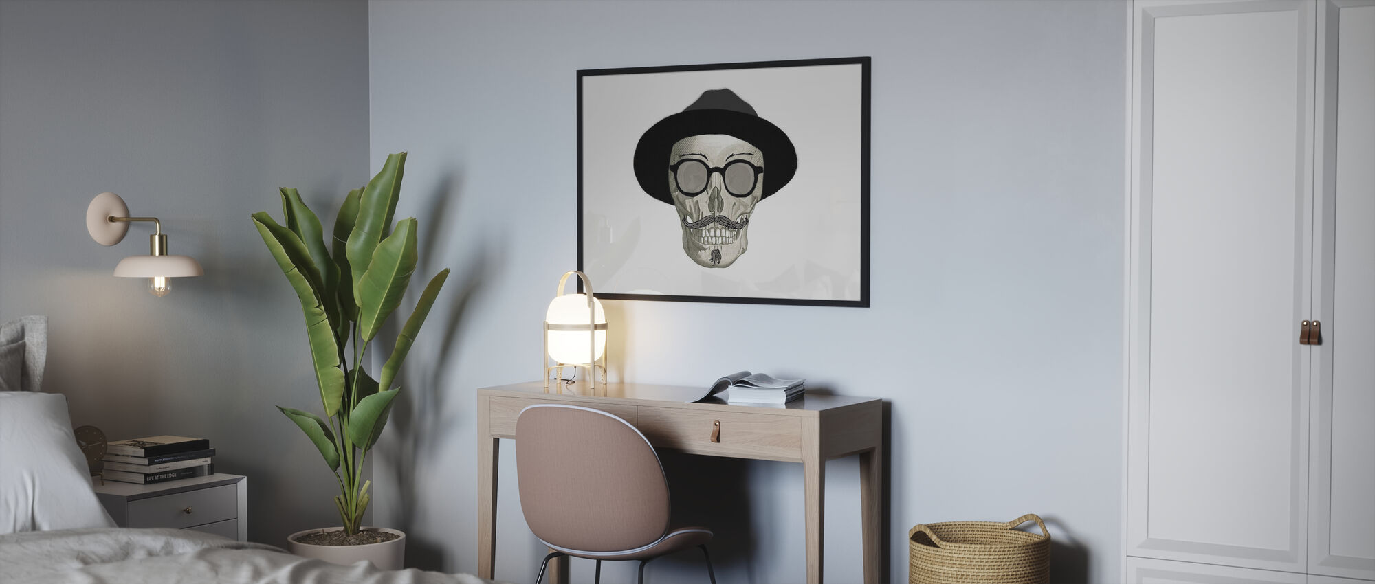 Crâne Hipster III - Affiche - Chambre