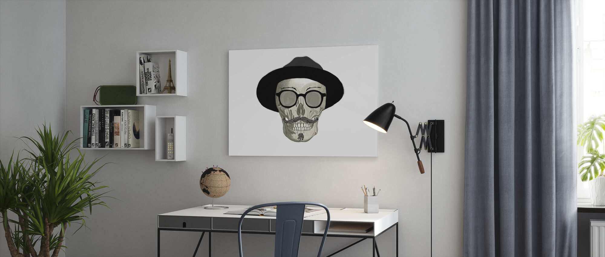 Hipster Skull III - Canvas print - Kantoor