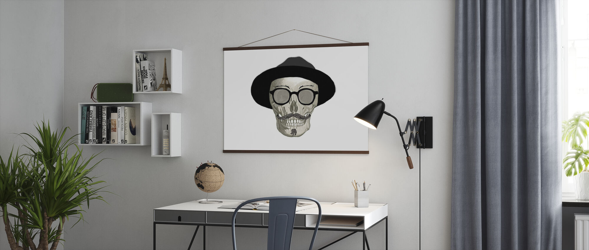 Hipster Skull III - Poster - Kantoor
