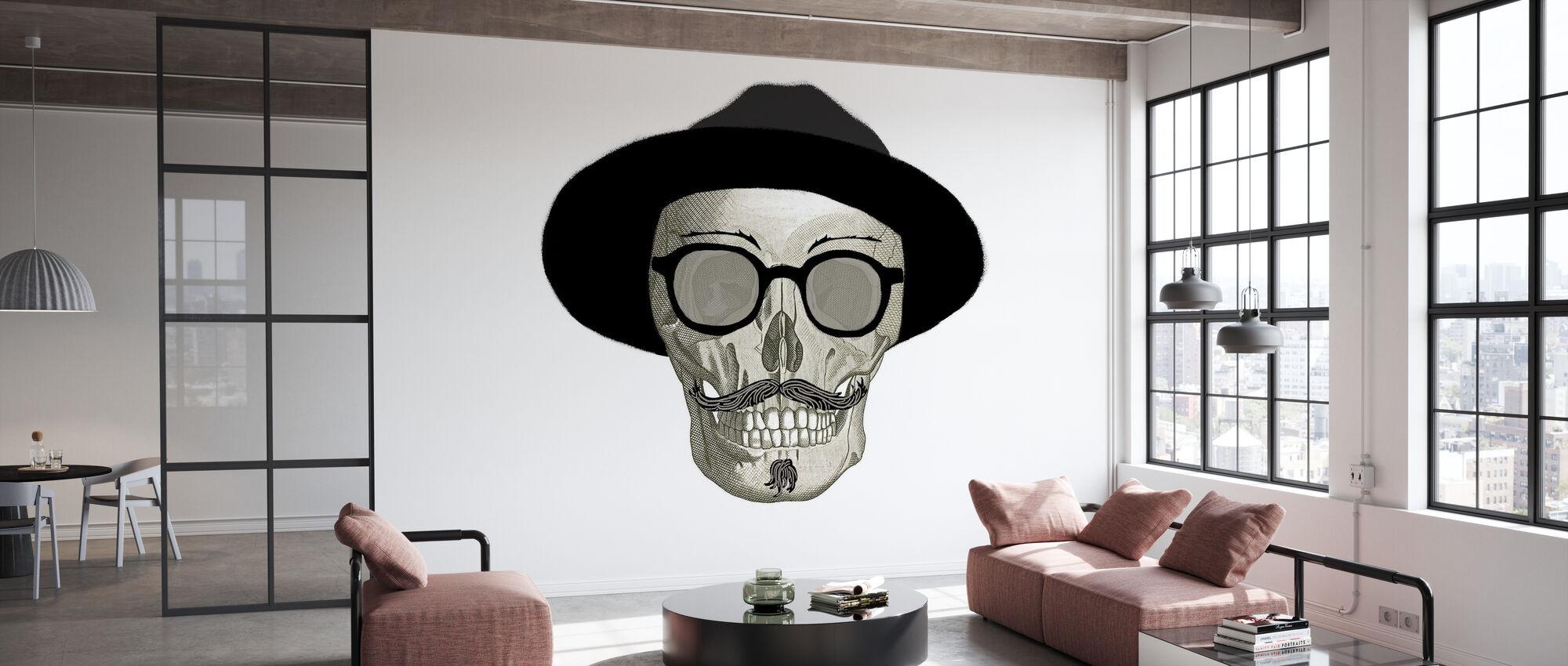 Hipster Totenkopf III - Tapete - Büro