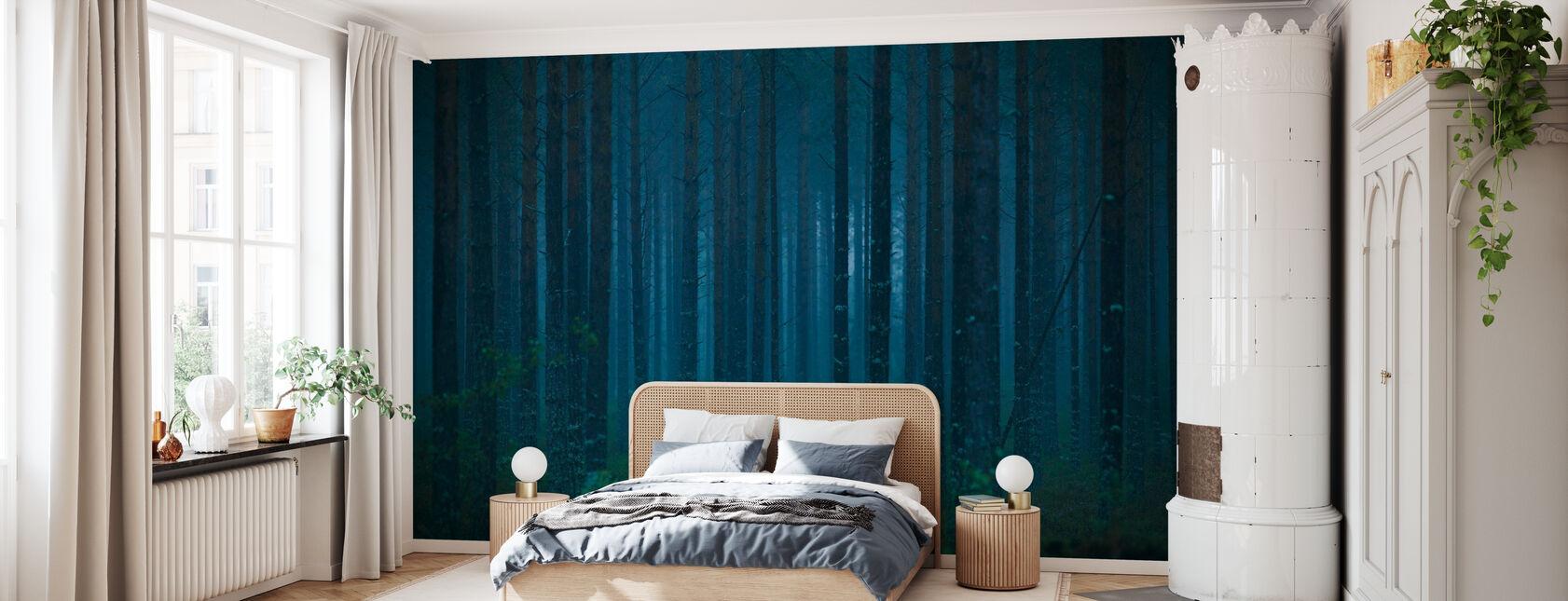 Blå skog - Tapet - Soverom