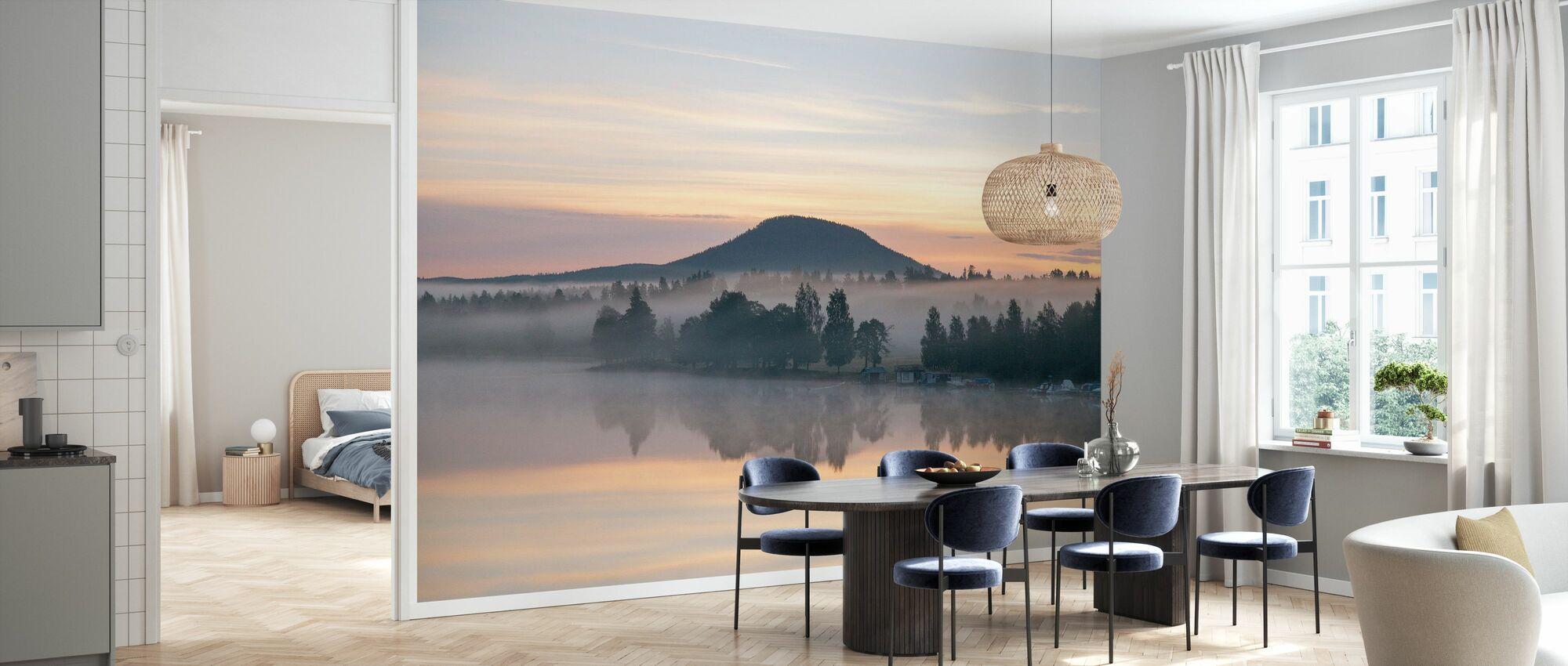 Ljusnan Sjön före soluppgången - Tapet - Kök