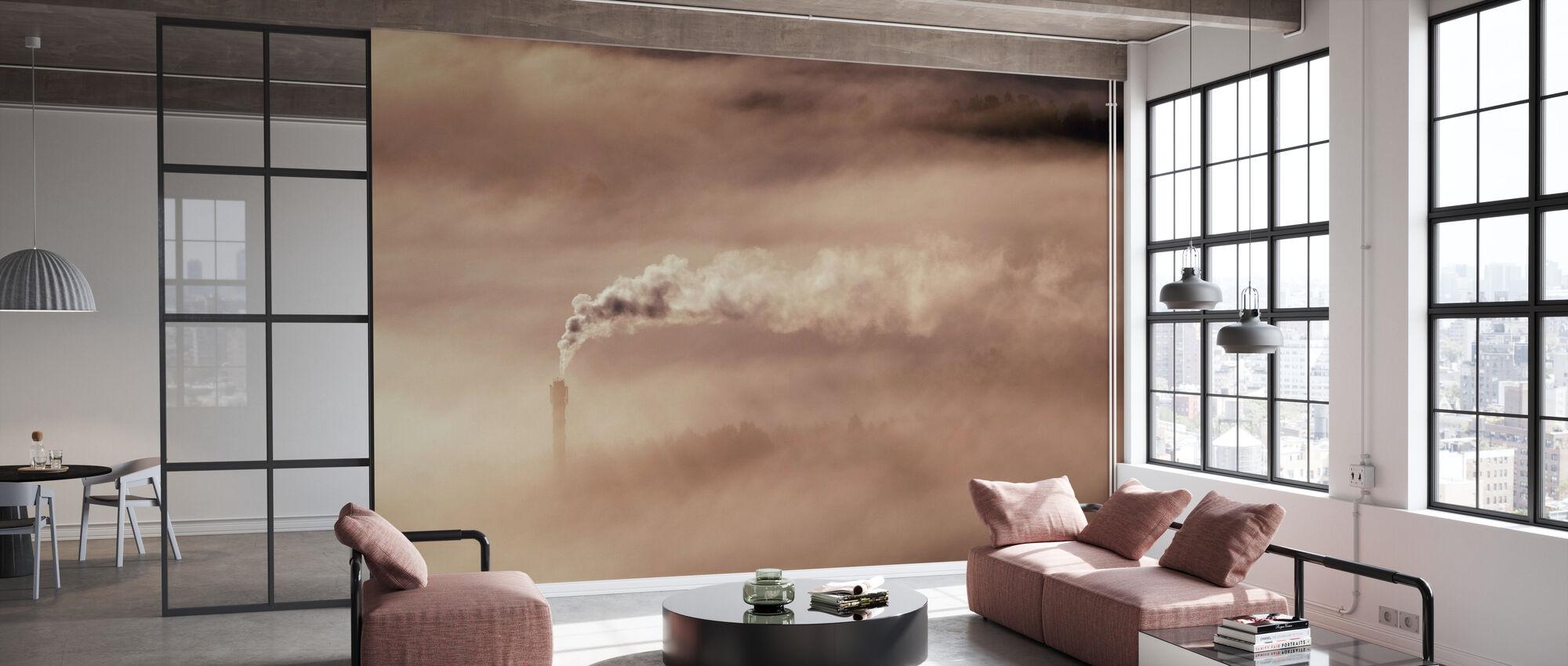 Rook en Mist - Behang - Kantoor