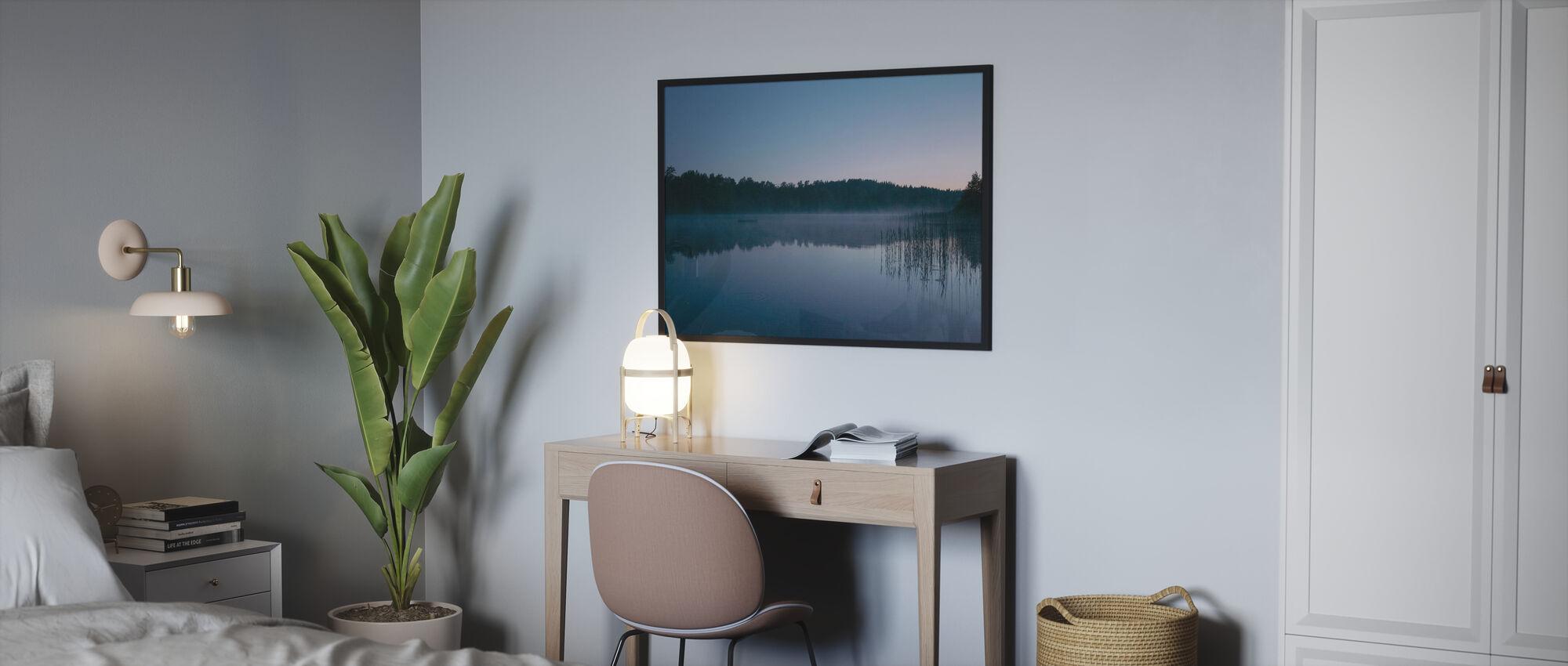 Soirée d'été au bord du lac - Affiche - Chambre